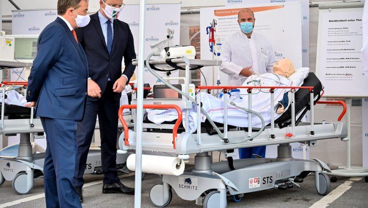 Autoridades alemanas continúan implementando medidas para frenar el avance del coronavirus. (Foto Prensa Libre: EFE)