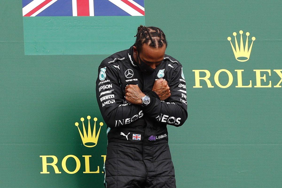 Lewis Hamilton gana el GP de Bélgica y celebra a lo Wakanda Forever
