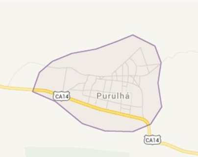 Mapa de Purulhá, Baja Verapaz.