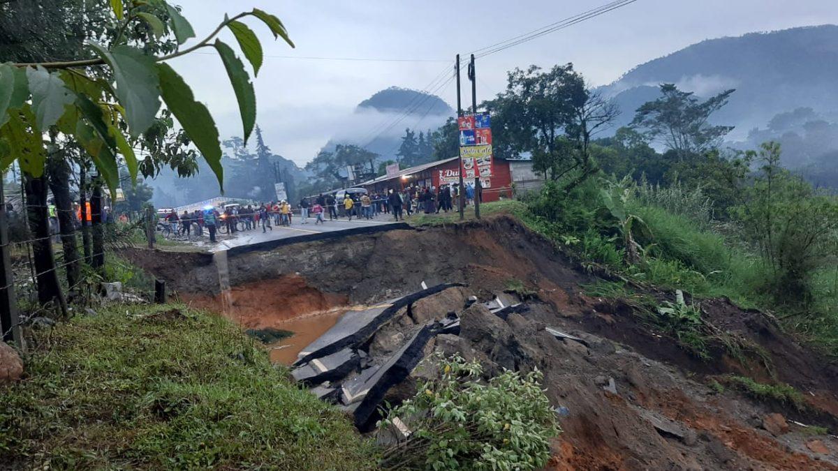 Conred reporta viviendas con daños y personas albergadas por socavamiento en Baja Verapaz