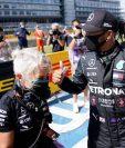 Lewis Hamilton finalizó en el primer puesto en la clasificación el Gran Premio de Gran Bretaña. (Foto Prensa Libre: AFP).