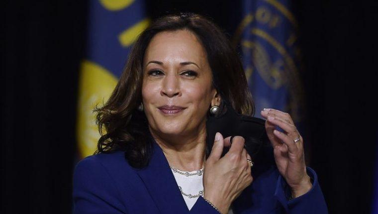Kamala Harris, compañera de formula de Joe Biden. (Foto Prensa Libre: AFP)