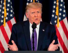 El presidente Donald Trump tiene una cuenta en Triller, una aplicación que compite con TikTok.  (Foto Prensa Libre:  AFP)