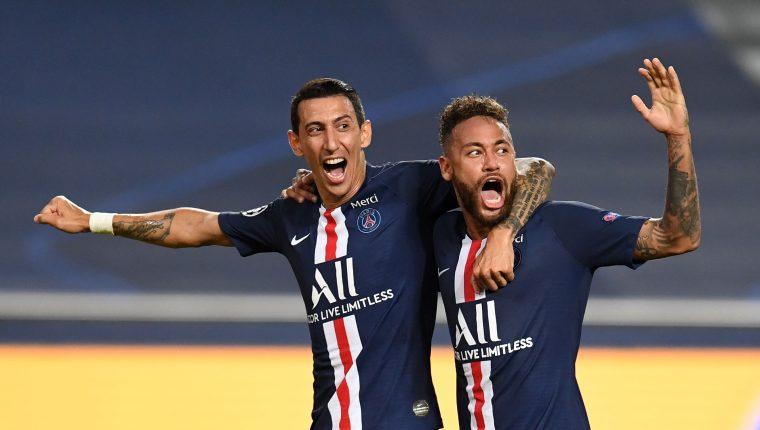 El Paris Saint Germain  anunció que tres de sus jugadores dieron positivo al coronavirus y medios aseguran que son Neymar, Ángel Di María  y Paredes. (Foto Prensa Libre: AFP)