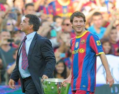 """El presidente del Barcelona se sincera y dice que tuvo """"la esperanza de que Messi jugara gratis"""""""