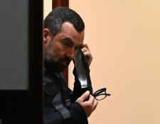 Alejandro Sinibaldi, exministro de Comunicaciones detenido por cinco casos de corrupción. (Foto Prensa Libre: AFP)