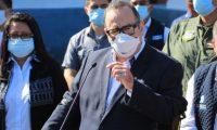 El presidente Alejandro Giammattei se refiere a la situación de pandemia de coronavirus en Guatemala. (Foto Prensa Libre: Byron García)