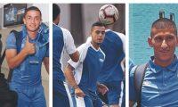 Marvin Ceballos, Jorge Aparicio y Stheven Robles, los llamados a brillar en la Selección de Guatemala. (Foto Prensa Libre: Hemeroteca PL)