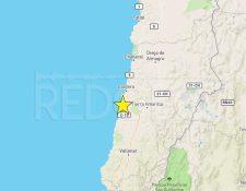 Ubicación del epicentro del sismo ocurrido este 31 de agosto. (Imagen tomada de Red Geográfica de Chile)