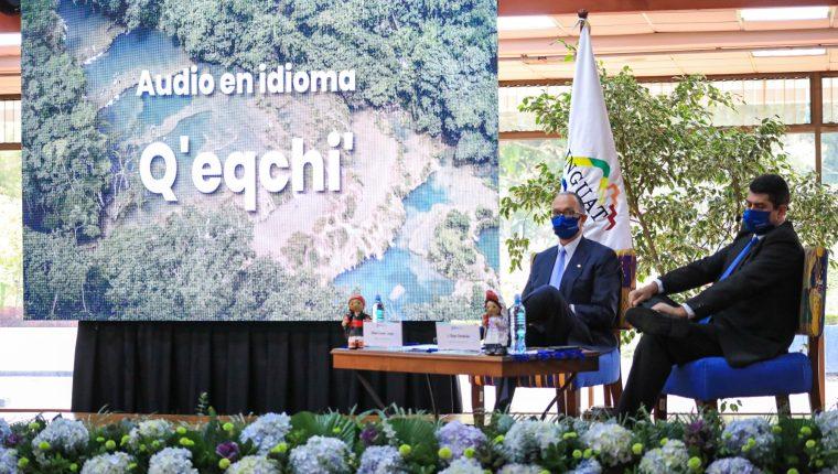 El director y subdirestor del Inguat presentaron la campaña de sensibilización para la recepción de turistas. (Foto, Prensa Libre: Inguat).