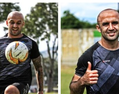 José Manuel Contreras sonríe en su regreso a los entrenamientos. (Foto Prensa Libre: Comunicaciones FC)