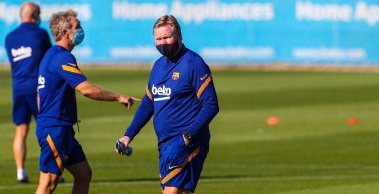 Koeman dirigió este lunes su primer entrenamiento con el Barcelona. (Foto Prensa Libre: Twitter FC Barcelona)