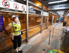 Las estaciones del Transmetro cuentan con medidas de prevención. (Foto Prensa Libre: Comuna capitalina)