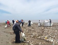 Durante las primeras semanas de agosto se recolectaron unas 60 toneladas de basura en el río Motagua, en Izabal. (Foto Prensa Libre: MARN)