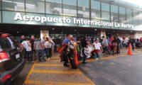 El Aeropuerto Internacional la Aurora permanece cerrado para vuelos comerciales desde marzo. Foto con fines ilustrativos. (Foto, Prensa Libre: Hemeroteca PL).