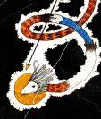 El arte del disco fue elaborado por Parutz, y evoca a Gukumatz, la serpiente emplumada. (Foto Prensa Libre: Bandcamp)