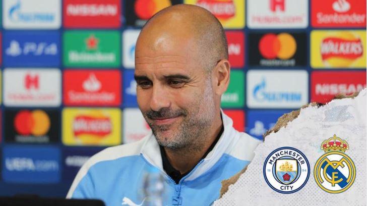 Pep Guardiola, técnico del Manchester City, está listo para enfrentar al Real Madrid. (Foto Prensa Libre: Manchester City)