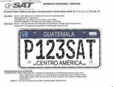 Placas solicitadas por la SAT según detalles en las bases de licitación en el portal Guatecompras. (Foto Prensa Libre: Hemeroteca PL)