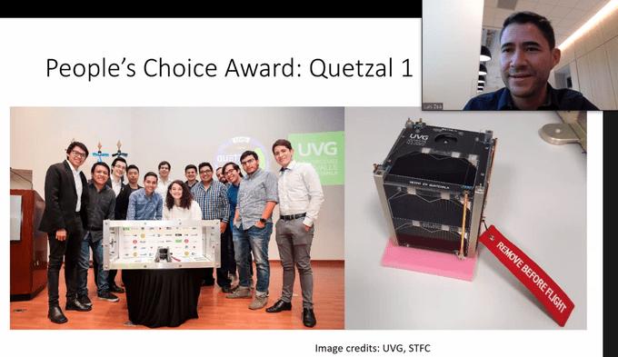 El satélite guatemalteco Quetzal-1 gana el People's Choice Award 2020
