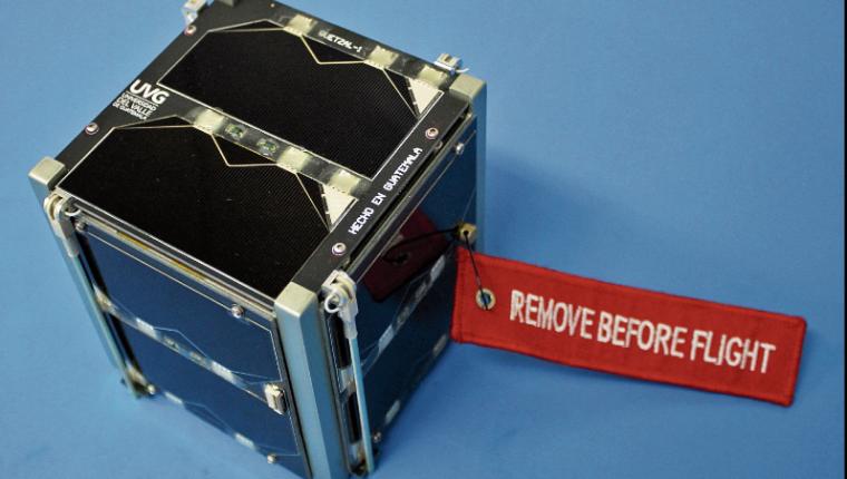 Quetzal-1 fue liberado en el espacio el pasado 28 de abril, para iniciar su misión. (Foto Prensa Libre: Hemeroteca PL).
