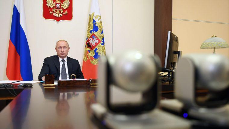 El presidente de Rusia, Vladimir Putin, anunció el registro de la vacuna Sputnik V contra el coronavirus. (Foto Prensa Libre: EFE)