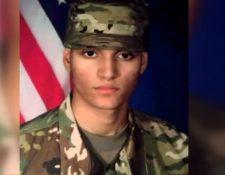 El soldado Elder Fernandes fue hallado sin vida. (Foto Prensa Libre: Tomada del video de Univisión)