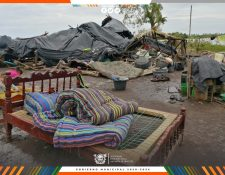 Una de las viviendas dañadas en Sipacate, Esuintla. (Foto, Prensa Libre: Facebook Walter Nájera).