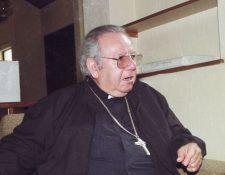 Víctor Hugo Martínez Contreras, Arzobispo Emérito de Los Altos Quetzaltenango-Totonicapán, murio este 26 de agosto del 2020. (Foto HemerotecaPL)