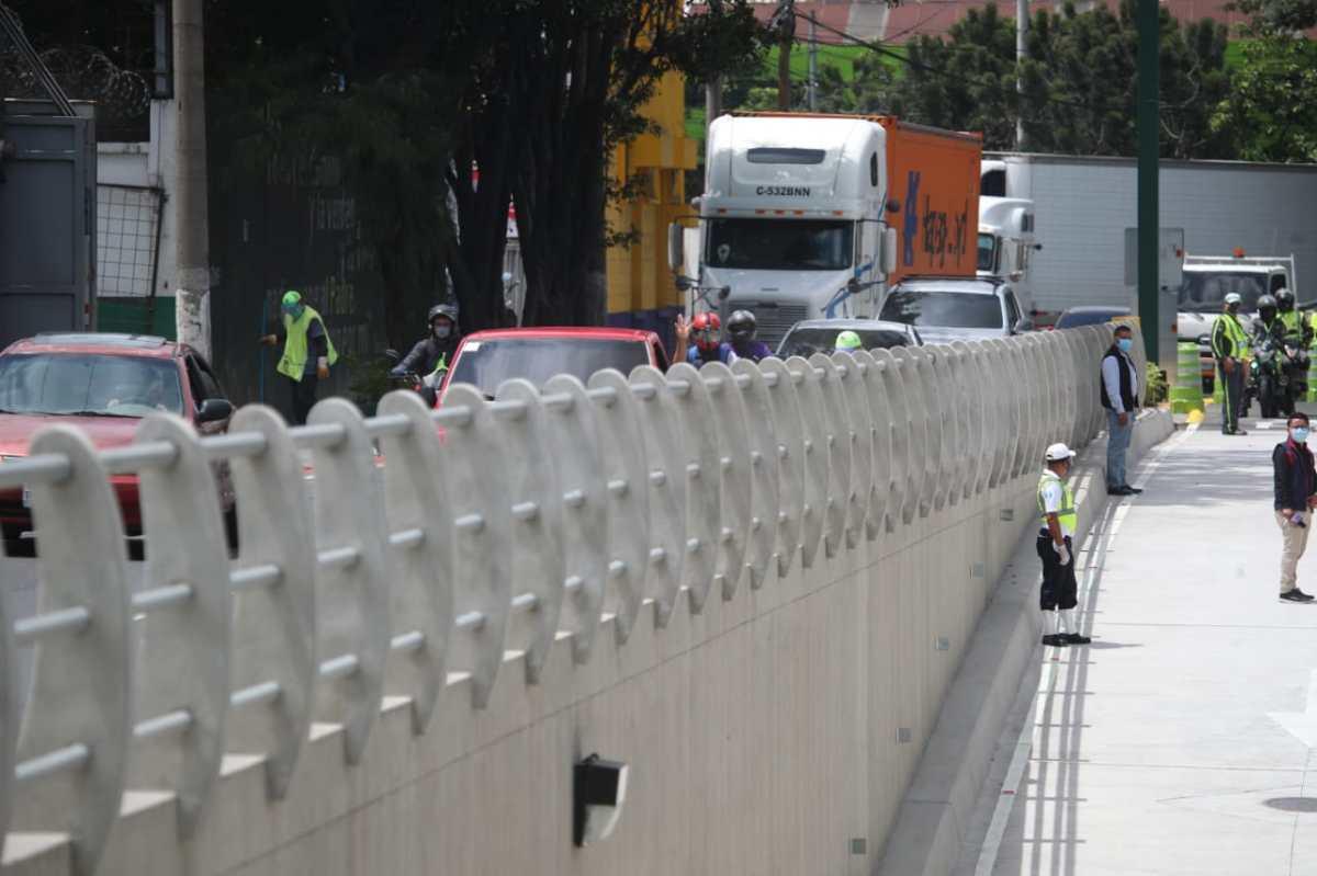 Inauguran el viaducto El Zapote en la zona 2 capitalina