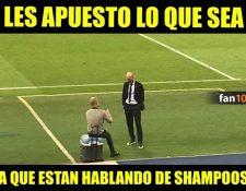 La imagen de los dos técnicos también generó comentarios a favor y en contra, así como los respectivos memes. Foto Prensa Libre: Tomada de redes
