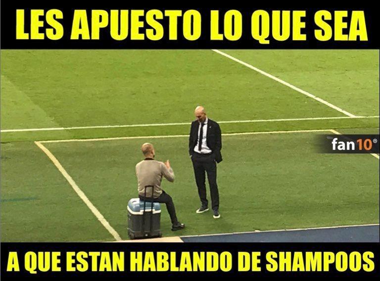La curiosa foto de Zidane y Guardiola que le da la vuelta al mundo. ¿De qué platicaron los dos técnicos?