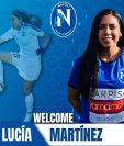 La jugadora guatemalteca Ana Lucía Martínez milita en el Nápoli femenino de la Serie A de su categoría. (Foto Prensa Libre: Facebook Ana Lucía Martinez)