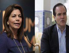 Mauricio Clover Carone y Laura Chinchilla están en contienda para presidir el BID. (Foto Prensa Libre: Hemeroteca PL)