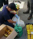 Incautación de drogas en la empresa Pan Atlantic Carrier, S.A., que está vinculada al caso La Línea. (Foto Prensa Libre)