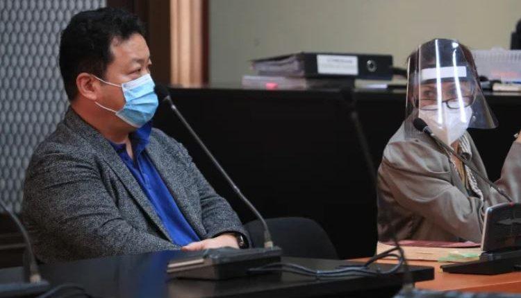 Young Min, implicado en el caso La Linea, durante la audiencia en la Torre de tribunales. (Foto Prensa Libre: Carlos Hernández)