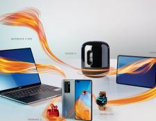 MateBook 13, también mostraron la MatePad T8 y los Freebuds3i, los productos más recientes de Huawei. Foto Prensa Libre: Cortesía
