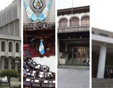 El proceso de elección de cortes ha confrontado a la CC, Congreso, CSJ y MP. (Foto Prensa Libre: Hemeroteca PL)