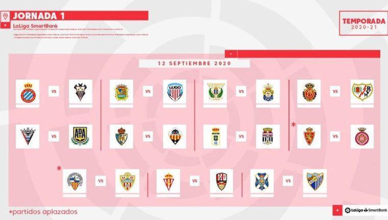 Así se jugará la primera jornada de la Liga española. (Foto Prensa Libre: Twitter LaLiga)
