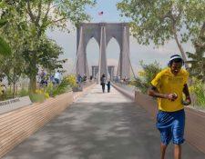 El Proyecto Brooklyn Bridge Forest (Bosque del puente de Brooklyn), gana concurso internacional y usarán madera de la Asociación de Comunidades Forestales en Petén. (Foto Prensa Libre: Proyectos piloto Design Collective, Cities4Forests, Wildlife Conservation Society, Grimshaw y Silman; Nueva York y Montreal)