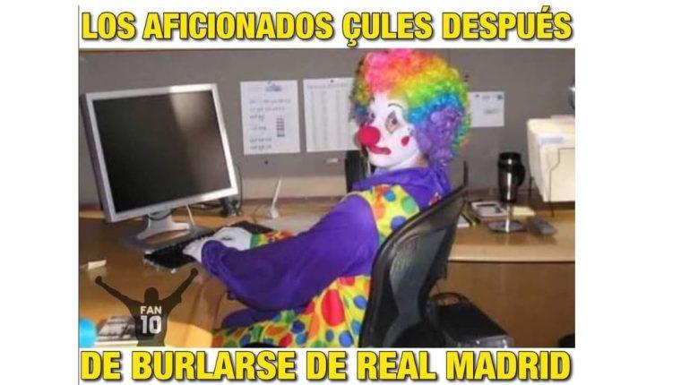 Las redes es burlaron de la derrota del Barcelona. (Foto Prensa Libre: Twitter FAN10)