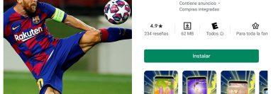 Un juego para celular tiene como premio conocer a Lionel Messi. (Foto Prensa Libre: EFE)
