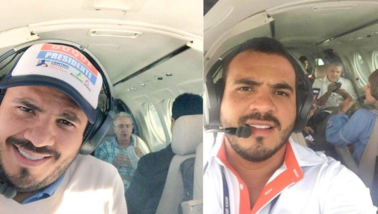 Samuel Niño Cataño, durante vuelos con Álvaro Uribe, expresidente  y senador de Colombia, e Iván Duque, actual presidente de ese país. (Foto tomada de La Nueva Prensa, de Colombia)
