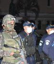Ejército, PNC, PMT y PM en la inaguración del plan Parada Segura de Villa Nueva, para evitar la delincuencia. (Foto Prensa Libre: Municipalidad de Villa Nueva)