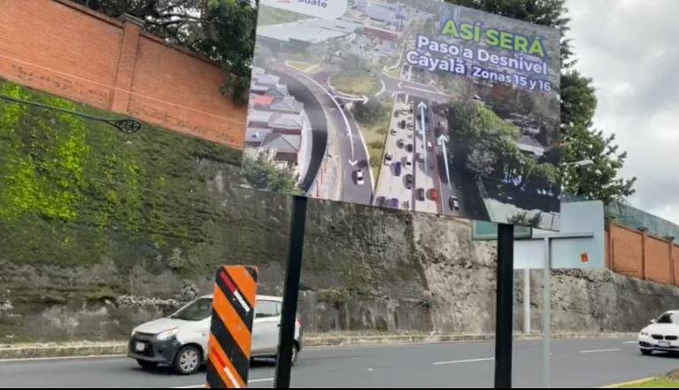 Construcción de nuevo paso a desnivel entre zonas 15 y 16 afectará a transporte pesado