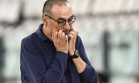 Turin (Italy).- (FILE) - Juventus coach Maurizio Sarri gestures during the italian Serie A soccer match Juventus FC vs UC Sampdoria at the Allianz stadium in Turin, Italy, 26 July 2020 (re-issued on 08 August 2020). On 08 August 2020 Juventus announced that Maurizio Sarri 'has been relieved of his post as coach of the First Team'. The decision comes after the elimination of Juventus in the round of 16 of the UEFA Champions League by Lyon on 07 August 2020. Hired for the 2019-2020 season, Sarri led Juventus to the victory of his ninth consecutive championship. (Incendio, Liga de Campeones, Italia) EFE/EPA/ALESSANDRO DI MARCO *** Local Caption *** 56237703