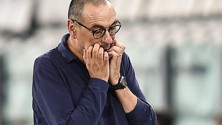 Sarri, que llegó al Juventus en el verano de 2019 y fue destituido este sábado. Foto Prensa Libre: cortesía