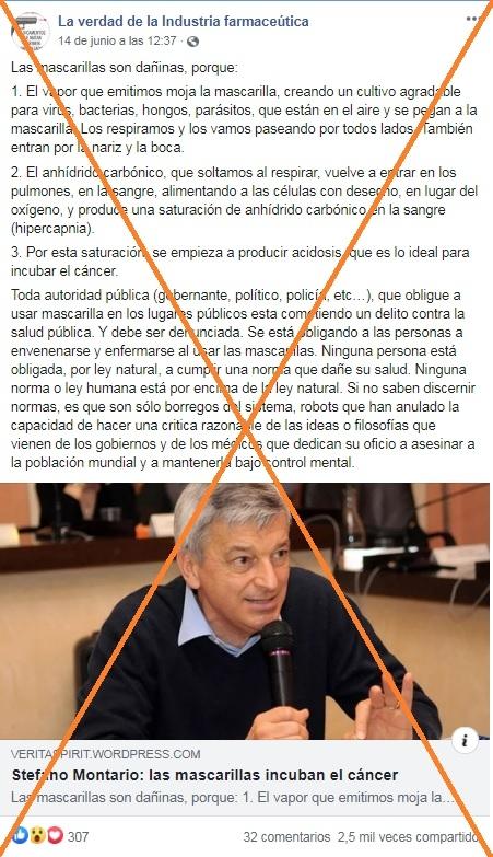 Captura de pantalla realizada el 23 de junio de 2020 de una publicación en Facebook. (Foto Prensa Libre: Agence France-Presse)