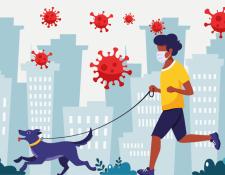 Los expertos consideran que salir a correr acompañado o pasear al perro tiene un riesgo moderado-bajo.