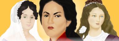Tres mujeres, entre muchas, que se abrieron paso en el relato histórico sobre las luchas emancipadoras en Latinoamérica: Javiera Carrera, Juana Azurduy y María Ignacia Rodríguez de Velasco.