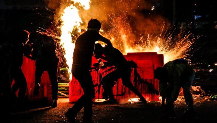 La muerte de Javier Ordóñez a manos de la policía desató una dura protesta en Bogotá. GETTY IMAGES